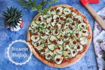 Kabaklı Beyaz Peynirli Pizza Tarifi