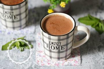 Taze Naneli Sıcak Çikolata