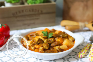 Patatesli Bamya Yemeği Tarifi