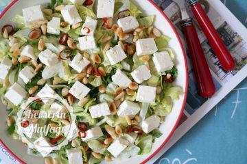 Beyaz Peynirli Yeşil Salata Tarifi