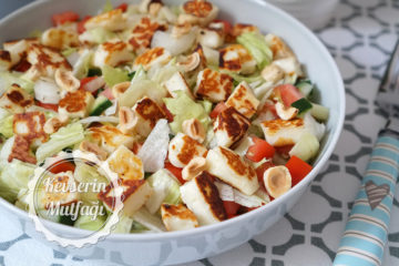 Hellim Peynirli Salata Tarifi