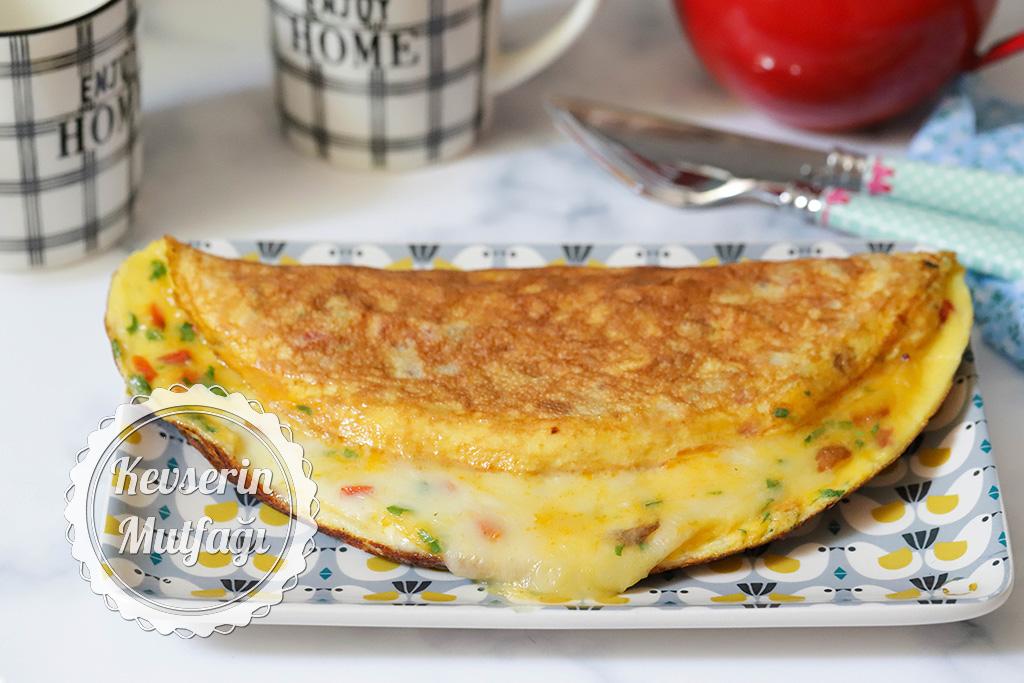 patatesli biberli omlet