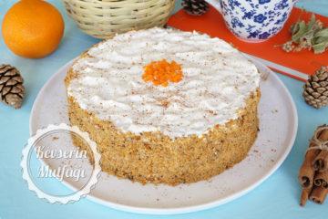 Kremalı Havuçlu Tarçınlı Pasta Tarifi