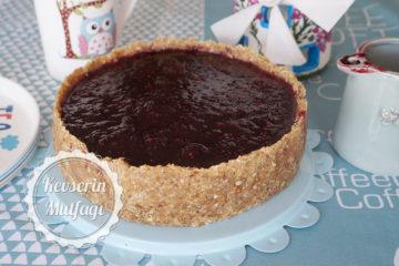 Glutensiz Şekersiz Pişmeyen Cheesecake