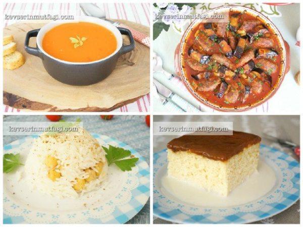 yemek menüsü | Kevserin Mutfağı