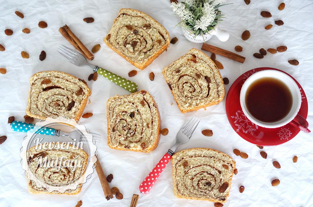 Tarçınlı Üzümlü Çörek