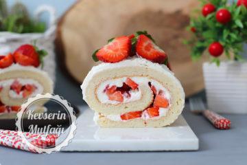Çilekli Rulo Pasta Tarifi