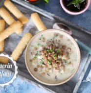 Mantarlı Yeşil Mercimek Çorbası Tarifi