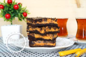 Bal Kabaklı Cheesecake Brownie (Videolu Tarif)