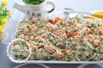 Yoğurtlu Brokoli Salatası (Videolu Tarif)