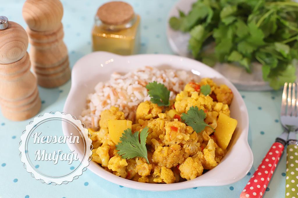 Aloo Gobi - Hint Usulü Patatesli Karnabahar Yemeği Tarifi