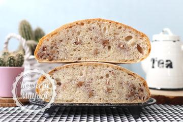 Ekşi Mayalı Cevizli Beyaz Ekmek