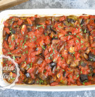 Fırında Az Yağlı Patlıcan Yemeği Tarifi
