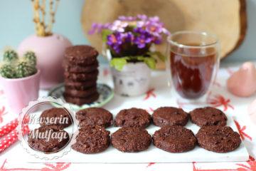 Çikolatalı Unsuz Kurabiye Tarifi