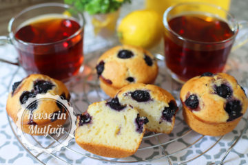 Limonlu Yaban Mersinli Muffin Tarifi