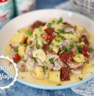 Kremalı Tavuklu Kabak Yemeği Tarifi