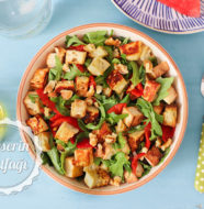 Hellim Peynirli Roka Salatası Tarifi