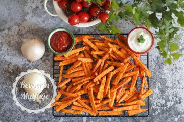 Fırında Tatlı Patates Kızartması Tarifi